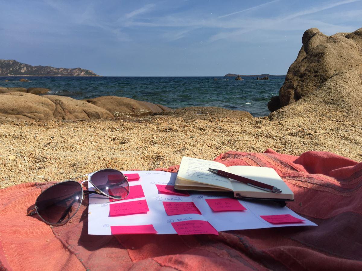 Strand in Sardinien