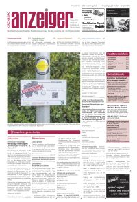 Artikel im Anzeiger Kirchberg